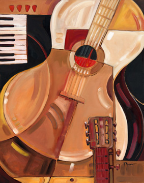 04070 Abstract Guitar